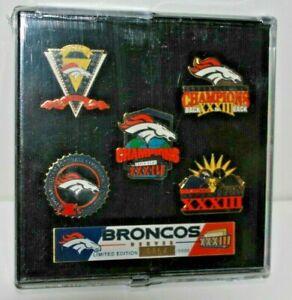 Denver Broncos 1998 Super Bowl XXXIII Champions Limited Edition 5 Pin Set #0864