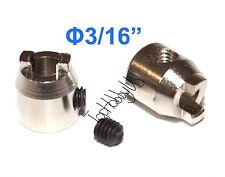"""2pcs RC Boat Metal Propeller Drive Dog for 3/16"""" Shaft US TH038-05103"""