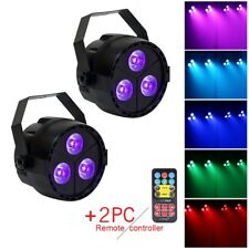 2PCS 4IN1 LED Par Can Stage Light RGB UV DMX512 Show Bar DJ Disco Party Light