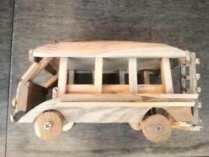 Wood Bus Toy Souvenir