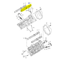 AUDI A4 A6 3.2L 2005-08 INTAKE CAM BANK 1 CYLINDERS 1,2 AND 3 06E109101AM