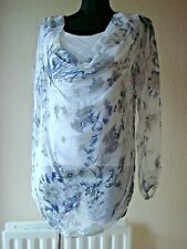 MADE IN ITALY 100% SILK TOP BY ELLA AND CHERRY WOMENS