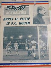 1968 PROGRAMME SPORTS ACTUALITES  ASSE FOOTBALL FCR ROUEN APRES CELTIC GLASGOW
