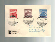 1941 Luxembourg Censored Occupation Cover Stamp Day Cancel