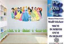 Princesas De Disney Pared Adhesivo Calcomanía Mural de Pared Dormitorio de Niños Grande.
