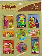 9/Set Muppets Magnets~Kermit,Miss Piggy~World Tour~Travel~Ny,China,Pari s,Mexico