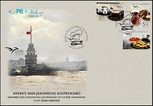 Turkey 2020, Euromed 2020 Traditional Gastronomy in the Mediterrenean, FDC