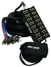 Elite Core PS248150 24 x 8 Channel 150' ft Pro Audio Cable XLR Mic Stage Snake