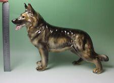 18 Inch Long Sable German Shepherd LARGE Porcelain Figurine New Shafford Repro
