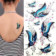 Coloré Papillon Tatouages Temporaires Étanche Anti-transpiration