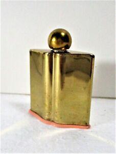 COTY LIP SHAPED BRASS/GOLD LIP SHAPE L'ORIGAN .13 FL OZ BOTTLE, PINK BOTTOM NICE