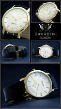 Classic Moments Luxury Cavadini Nostalgia Men's Watch IP Plated NEW