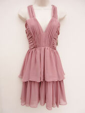 H&M - BNWT / RRP £29.99 - Dusky Pink Chiffon Tiered Short Dress - size 6/8