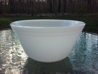 "Vtg Federal Milk Glass 7"" Serving Mixing Bowl Oven Ware 1 Quart"