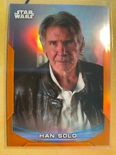 HAN SOLO 2020 Topps Star Wars Chrome Perspectives Orange Refractor #7-F /25