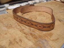 Hand Crafted Lashmet Sedona Arizona Tooled Leather Western Cowboy Belt Sz 34