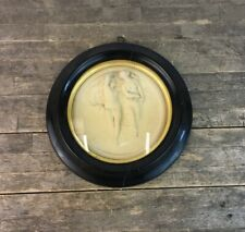 Antique 19th Century Edward William Wyon 1842 'May Morning' Framed Wax Sculpture