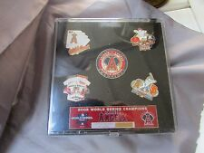 WORLD SERIES CHAMPIONS 5 PIN SET LE 2002 UNOPENED #1153 OF 10,000