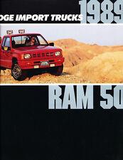 1989 Dodge Ram 50 Truck Power 16-page Original Car Dealer Sales Brochure Catalog