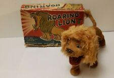Vintage Wind Up ROARING LION made by Alps Toys Japan W/ Original Box ANTIQUE
