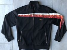 Rocawear Jacket Zip Front Hip Hop With Patch Polyester Blend Black Men's Size M