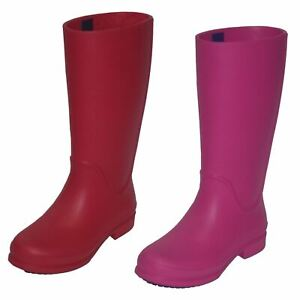 Ladies Crocs Casual Pull On Synthetic Outdoor Wellie Rain Boot