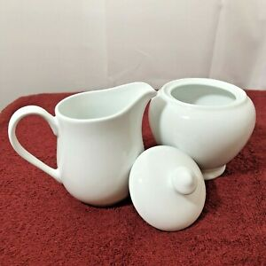 Pampered Chef Simple Additions White Sugar Bowl And Creamer Pitcher