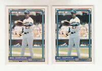 MIKE SHARPERSON 1992 Topps #627 Error Variation Name Banner Blue Purple Dodgers