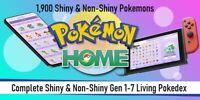 ✨Shiny✨+ Non-Shiny Pokedex Pokemon Home - Shiny Living Pokedex Gen 1-7