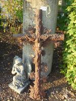 Nr.3757 Altes Grabkreuz Feldkreuz Wegkreuz Kreuz mit Korpus Jesus schön verziert
