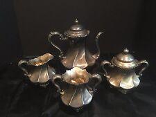Antique Vintage 4 Piece Silver Plated Tea/Coffee Set Meriden B Company