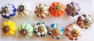 Möbelknöpfe, Möbelknauf, Schubladenknopf Keramik Vintage Shabby Handbemalt