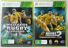 Wallabies Rugby Challenge and Rugby Challenge 2 Microsoft Xbox 360