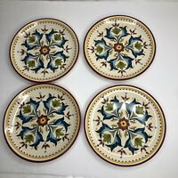"Bobby Flay Sevilla Red 8"" Salad Dessert Plates Set of 4  in EUC"