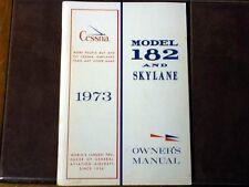 1973 Cessna 182 and Skylane Owner's Manual