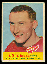 1957 58 TOPPS HOCKEY #49 BILL DINEEN VG-EX DETROIT RED WINGS CARD