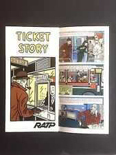FLOC'H - Ticket Story - 1982 - RATP Métro Paris - dépliant 6 pages