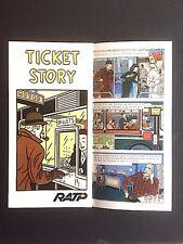 FLOC'H - Ticket Story - 1982 - RATP Métro Paris - dépliant 6 pages