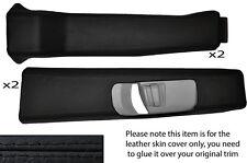 Black stitch B pilier de la peau recouvre fits Landrover Discovery 2 TDI raffinée 300 98-04