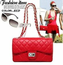 Ladies Fashion Korean Style Quilted Leather Chain Crossbody Shoulder Bag Handbag