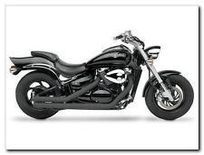 "Yamaha Raider 2008-2011 Hard-Krome Black 2.5"" Strippers Straights Exhaust System"
