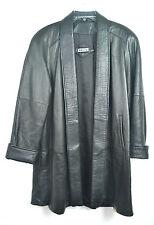 Authentic TIBOR Black 100 % Genuine LAMB SOFT Leather COATJacket SIZE M