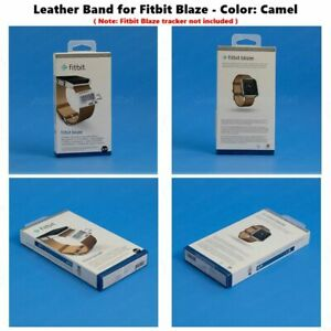 NEW Fitbit Blaze Accessory replacement Brown Leather Wrist Band & Frame S/L