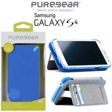 Samsung Galaxy S4 PureGear Credit Card Folio Case W/ Convertible Kickstand Blue