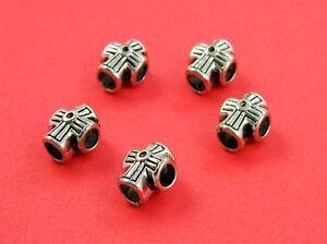 Pewtert Antique Silver Cross Beads Paracord Bracelets & Lanyards - US Seller