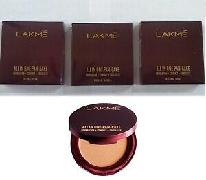 LAKME ALL IN ONE PAN-CAKE | Foundation | Comapct | Concealer | in 3 Shade | 8 gm