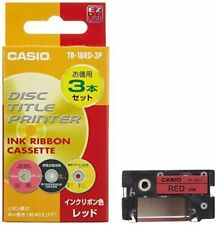 CASIO disc title printer TR-18RD-3P red ink ribbon three 4971850139737