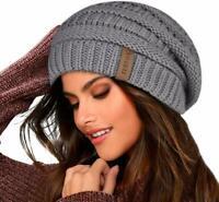 Furtalk Knit Beanie Hats For Women Men Fleece Lined Ski Skull Cap Slouchy Winter