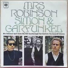 "7"" EP Simon & Garfunkel - Mrs. Robinson - England 1968 - VG to VG+(+)"