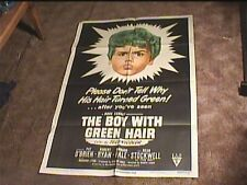 BOY WITH THE GREEN HAIR 1948 ORIG MOVIE POSTER CULT FAVE